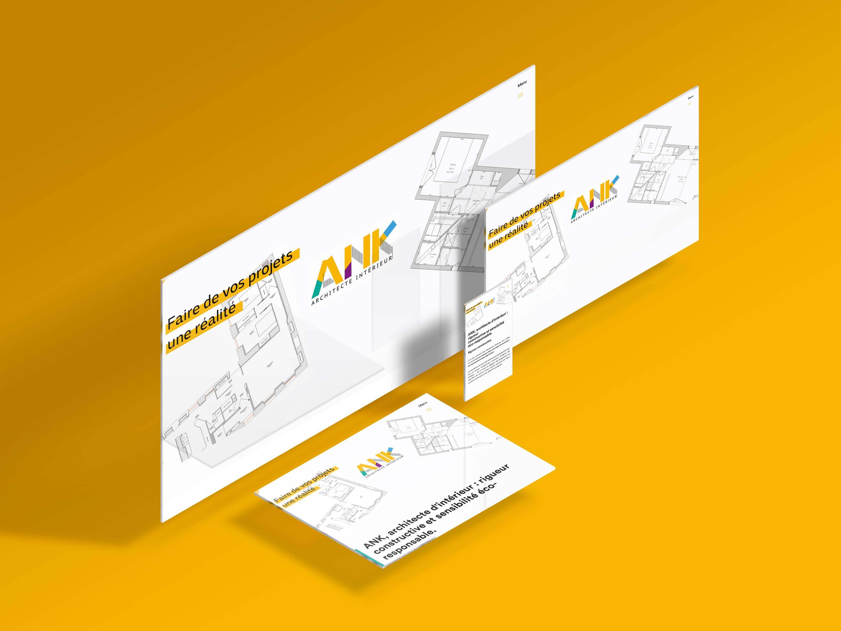 Création site internet pour agence d'architecte intérieur